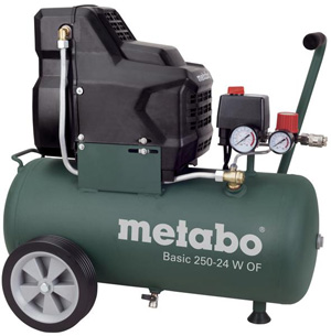 Bezolejový kompresor Basic 250-24 W OF METABO